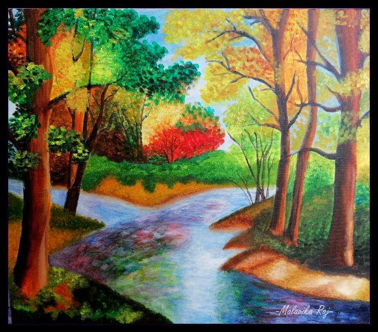 SERENE. Acrylic on Canvas. Original handmade paintings.