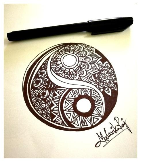 Artwork inspired by Yin-Yang
