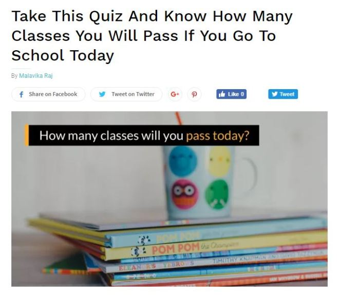 Take this quiz and know how many classes you will pass if you go to school today